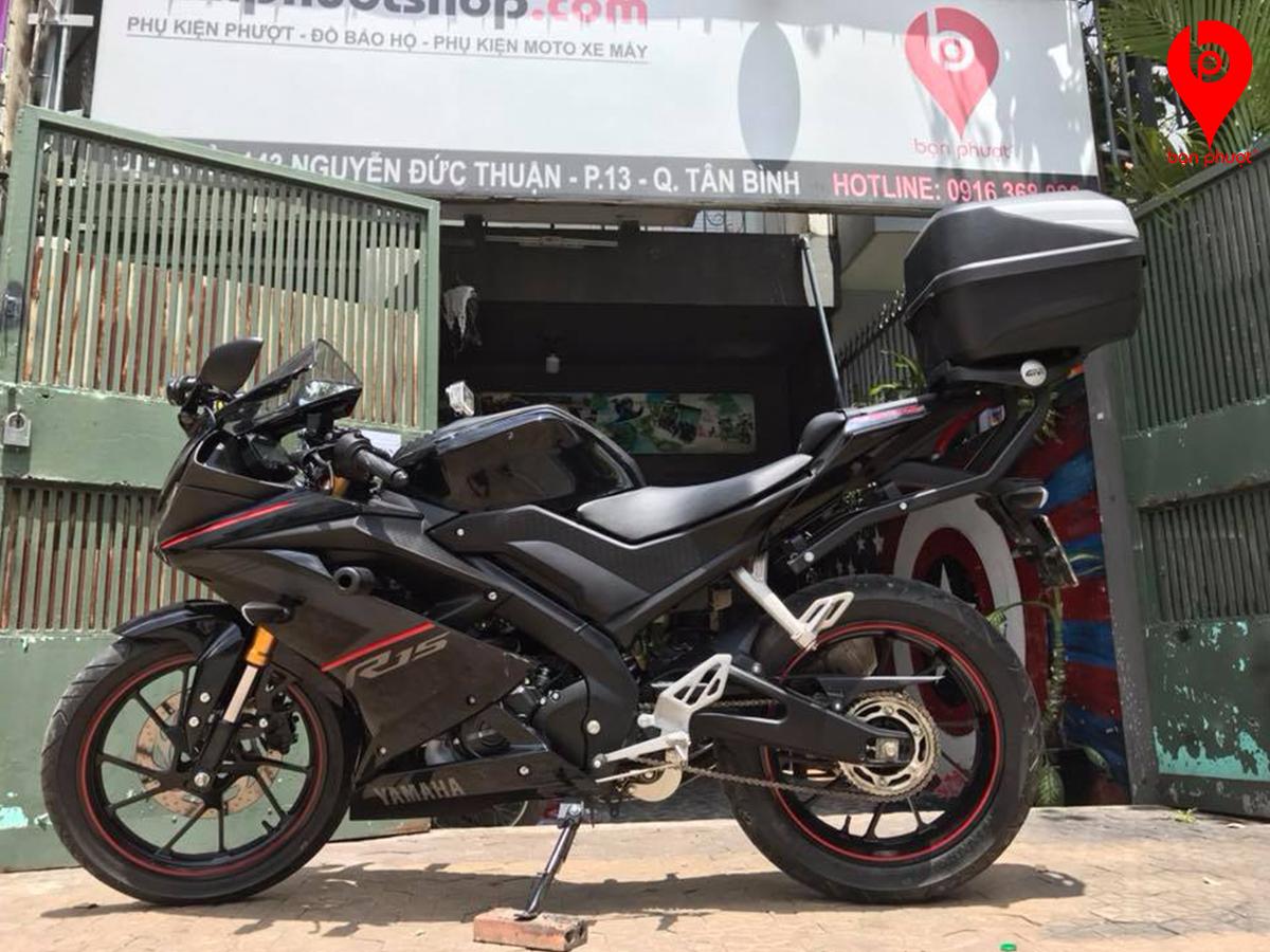 Baga và thùng Givi cho Yamaha R15
