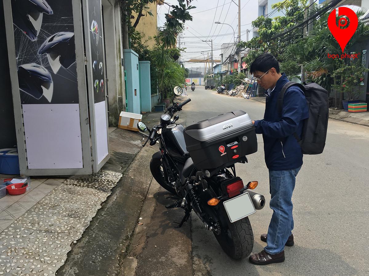 Baga Gắn Thùng Cho Honda Rebel