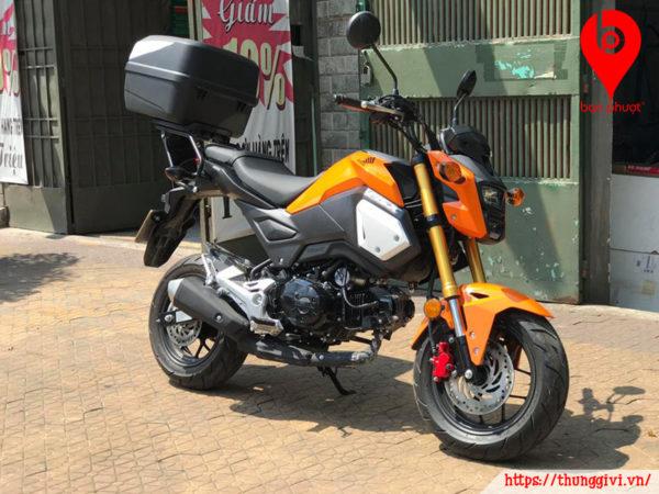 Gắn thùng Givi cho Honda MSX